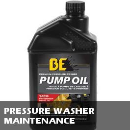 Pressure Washer Maintenance Items