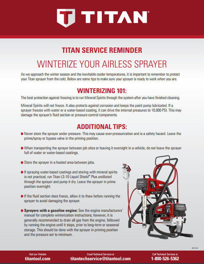 Tips For Winterizing Your Paint Sprayer - American Airless